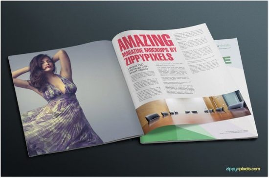 Simple and Clean Magazine Mockup Collection