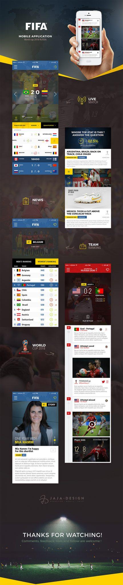 fifa-app-Ui-design