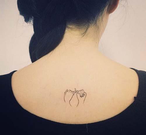 minimal back tattoo