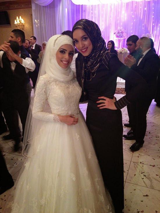 Long Sleeve White Islamic Wedding Gowns Robe