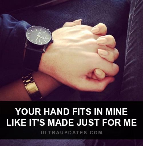 cute holding hands quote