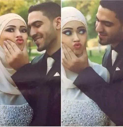 cute wedding couple selfies