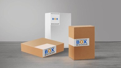 Photo of Free Product Packaging Boxes PSD Mockup