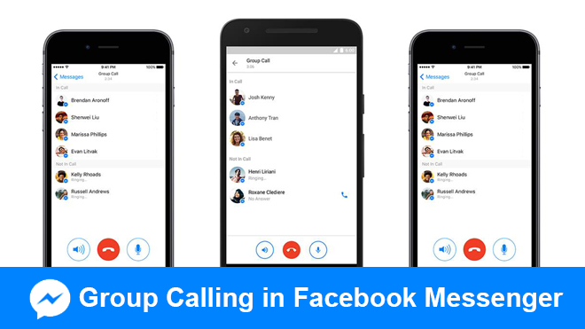 Group calling in Facebook Messenger