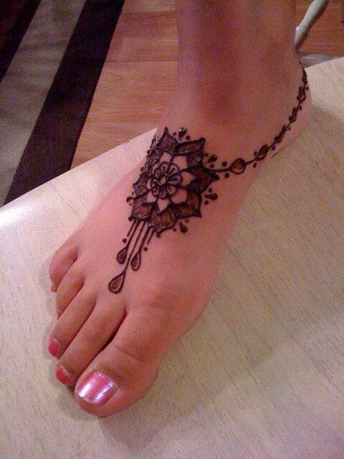 easy and simple henna designs for feet