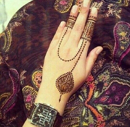 simple henna designs for fingers 3
