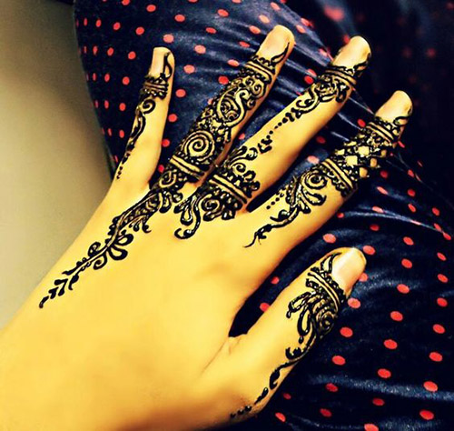 simple henna designs for fingers 4