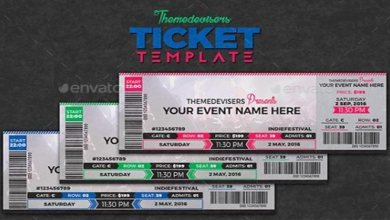 Photo of 12+ Best Concert Ticket Templates in PSD for Photoshop