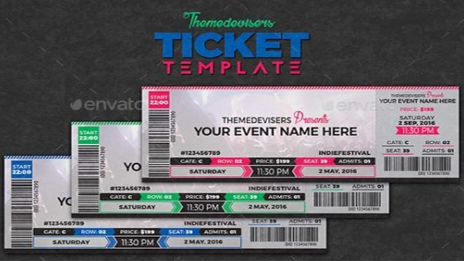concert ticket-template
