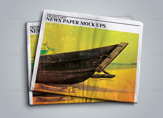 02_News Paper mockup