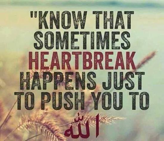 islamic quotes on heart break