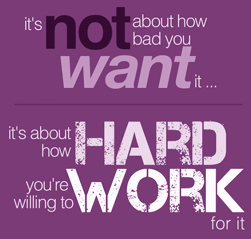 thoughts on hard work