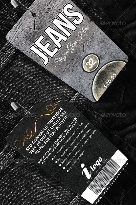 jeans Apparel Tag Template