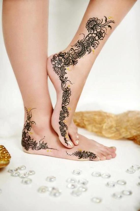 henna tattoos ideas for feet