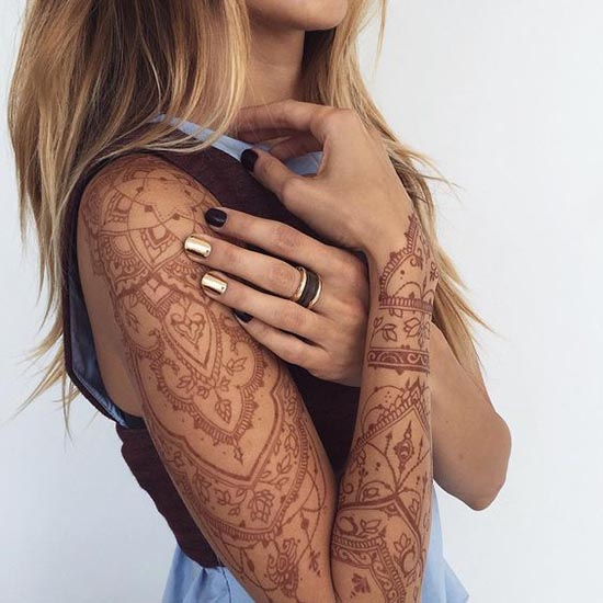 temporary henna tattoo designs full sleeves
