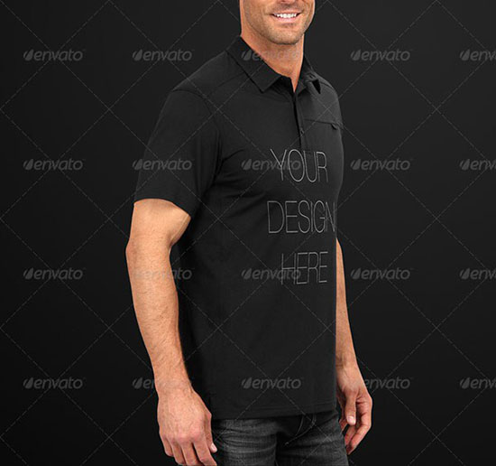 Mens Polo Shirt Mock-Up