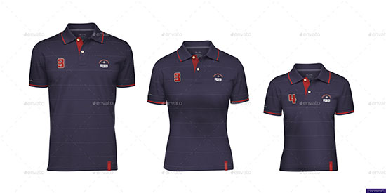 Polo Shirt for Men Women Kids Mock-up