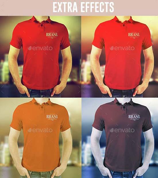 Realistic Polo Shirts Mock-ups