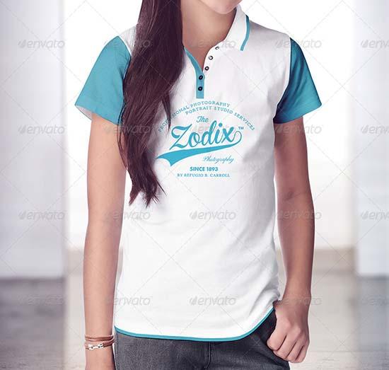 Teenagers T-Shirt and Polo Shirt Mock-up
