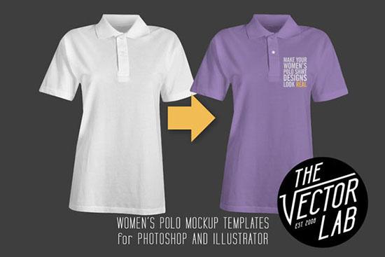Womens Polo Shirt Mockup Templates