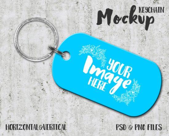 Dog-Tag-Keychain-Mockup