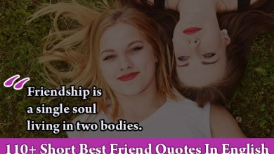 Photo of 110+ Short Best Friend Quotes In English