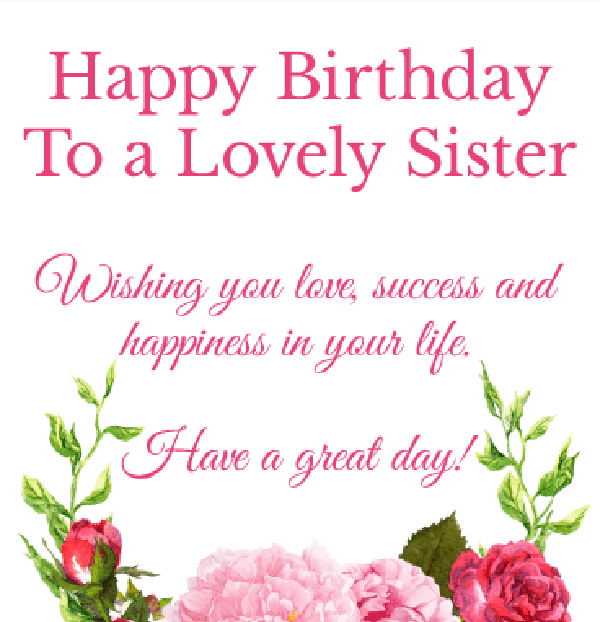 Best Happy Birthday Quotes for sisters