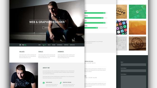 focal-resume-psd-template