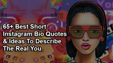 Photo of 65+ Best Short Instagram Bio Quotes & Ideas To Describe The Real You.
