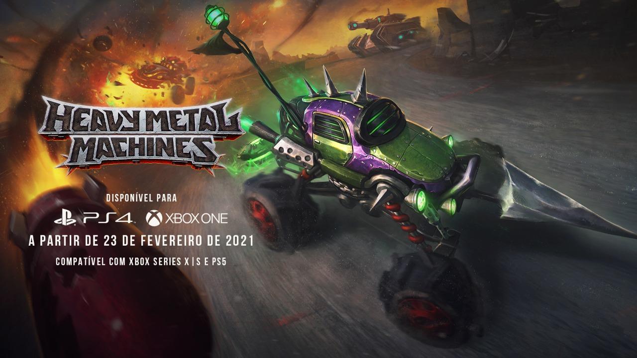 Heavy Metal Machines (HMM) chega aos consoles em 23 de fevereiro