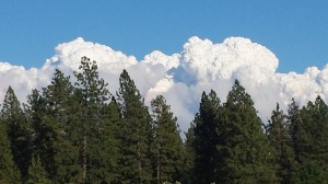 Cloud bank over King Fire