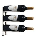 Straight Metal Wine Rack Wall Rails (Cork-Out)