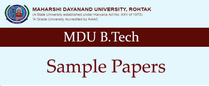 MDU B Tech Mathematics -III (M 3) Solved Question Papers 2nd