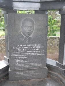 Benedict Vilakazi's Grave