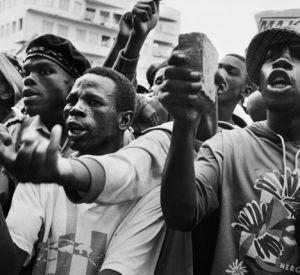 Protest against Chris Hani's assassination, 1993