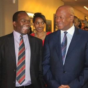Mayor of eThekwini, Cllr James Nxumalo & Minister Jeff Radebe at the eThekwini Living Legends 2014