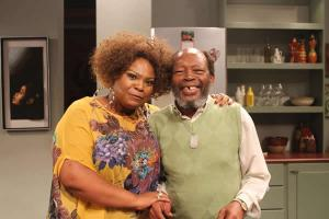 Tiki Nxumalo & Slindile Nodangala on the set of Generations