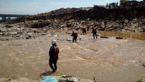 Rescue workers search for missing child in Alexandra