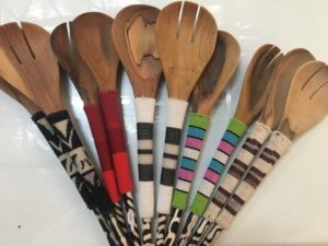 Beaded salad servers, African Art Centre, R270 each