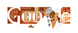 Google Doodle celebrating what would have been Miriam Makeba's 81st birthday, 4th March 2013