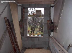 Infill at former stairwell
