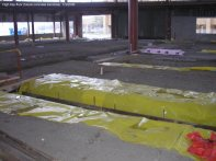 High bay floor (Future concrete trenches)