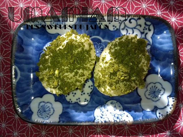 oeufs mimosa au thé matcha