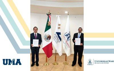 Firma de convenio de colaboración entre Universidad Marista de San Luis Potosí y CANACO SERVYTUR SLP