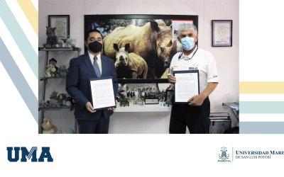 Firma de convenio de colaboración entre la UMASLP y La Fundación Rino Q.