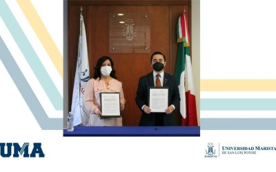 Firma de convenio de colaboración entre la UMASLP y La Asociación Mexicana de Mujeres Empresarias, Capítulo San Luis AC.
