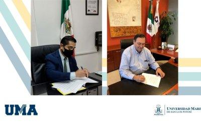 La UMASLP firma convenio de colaboración con CANACINTRA SLP.