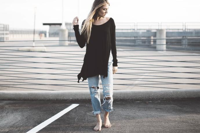 Ripped Jeans Are Back In Style