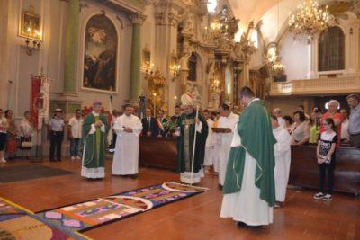 infiorata arcivescovo di spello
