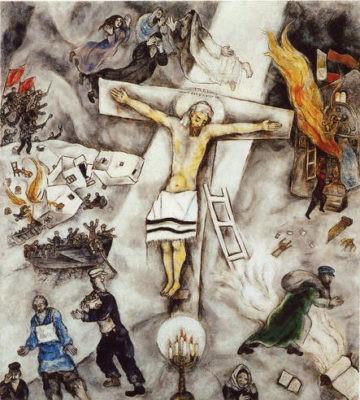 bellezza divina crocifissione bianca chagall